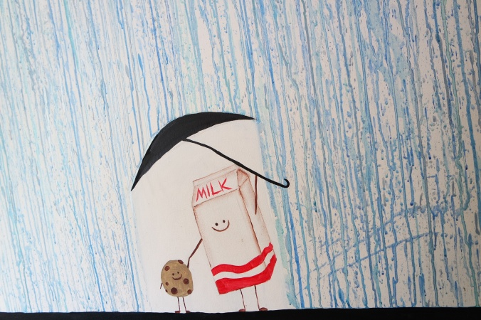 Es ist ganz egal wie sehr es regnet, wenn nur jemand da ist, der mit dir zusammen den Schirm hält.